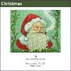 535 - Santa with Holly Border