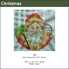 585 - Snowshoe Santa Ornament