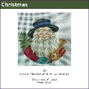 587 - Santa with Blue-banded Hat & Toys Ornament