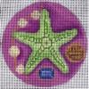 GE657 - Green/Purple Starfish Ornament