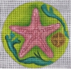 GE659 - Lime Green/Pink Starfish Ornament