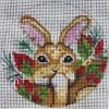 GE663 - Bunny Rabbit/Poinsettia Ornament
