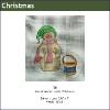 580 - Snowman with Drum Mini-sock