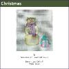 581 - Snowman with Present Mini-sock