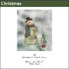 582 - Snowman with Tree Mini-sock