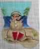 GE637 - Sand Man Scuba Diver Mini-sock