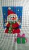 GE645 - Santa Snowman/small stocking