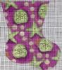 GE656 - Green/Purple Starfish Mini Sock