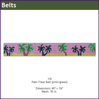 110 - Palm Trees (pink/green)